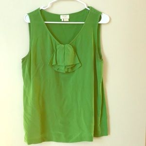 Kate Spade Live Colorfully Bow Tank Blouse
